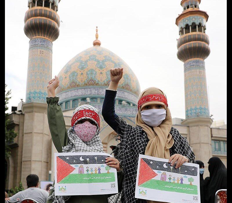 گردهمایی کودکان  به یاد کودکان مظلوم فلسطین